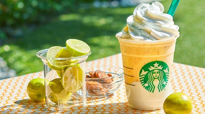 Starbucks Japan's Key Lime Pie-inspired Frappuccino