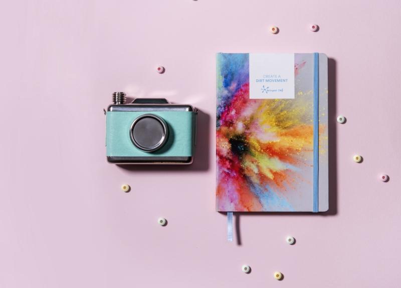 Journal and Polaroid Camera