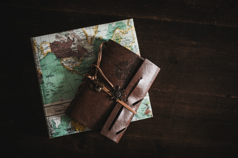 Leather Journal With Map