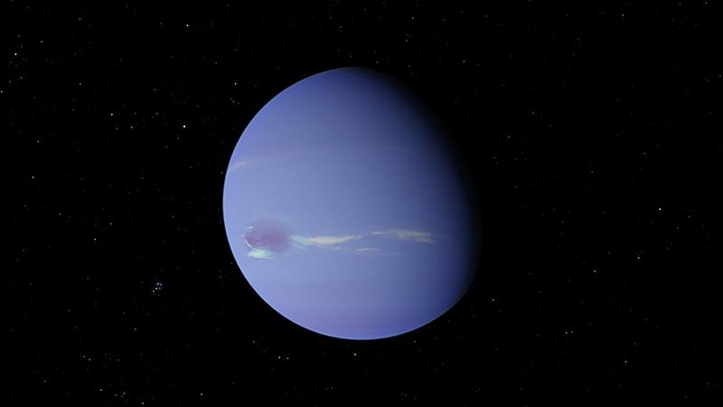Neptune in space