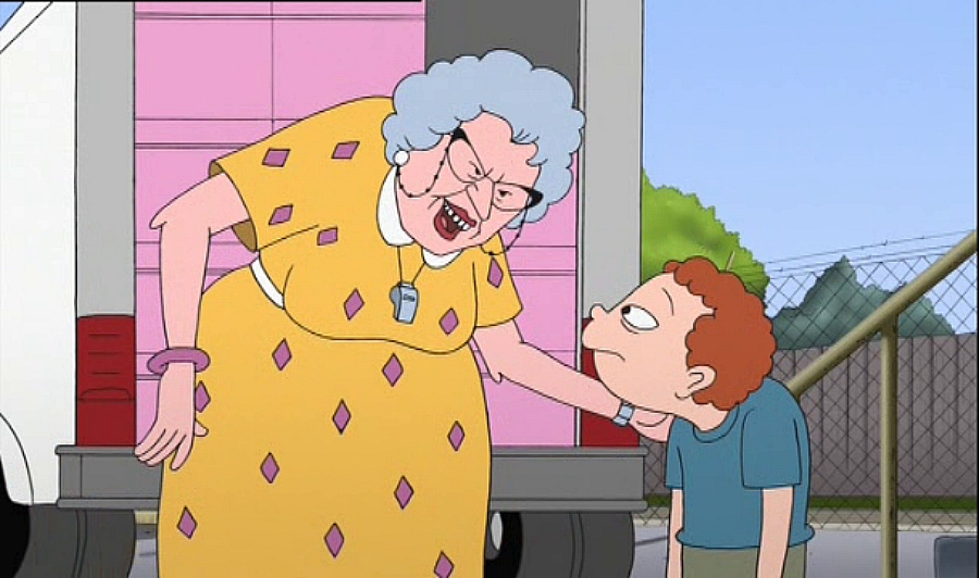 Ralph tattling to Miss Finster, Recess