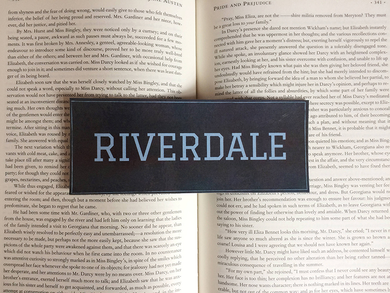 Riverdale bookmark from Etsy