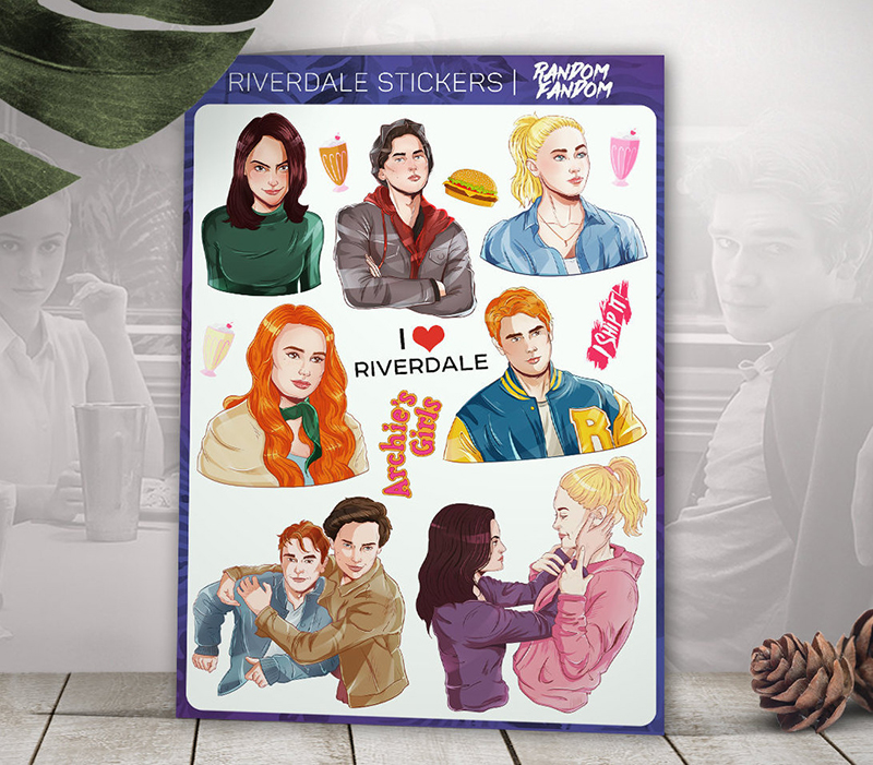 Riverdale character stickers from Etsy