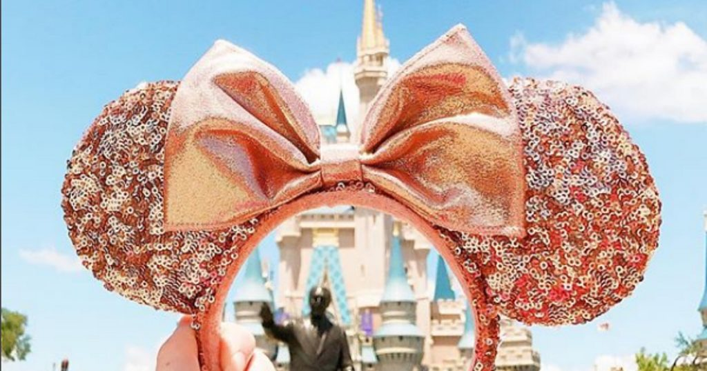 where to buy rose gold minnie mouse ears. Black Bedroom Furniture Sets. Home Design Ideas