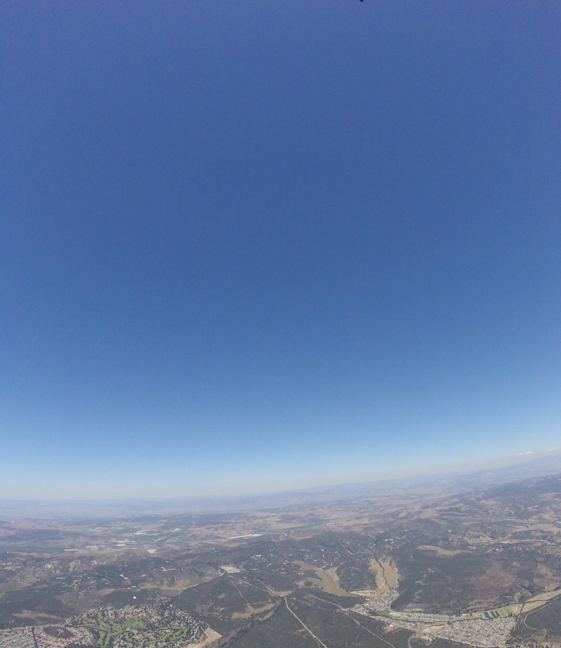 skydive view