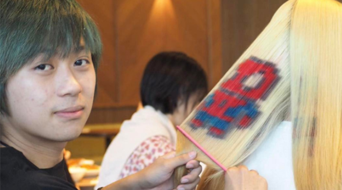 Spider-Man pixel art hair