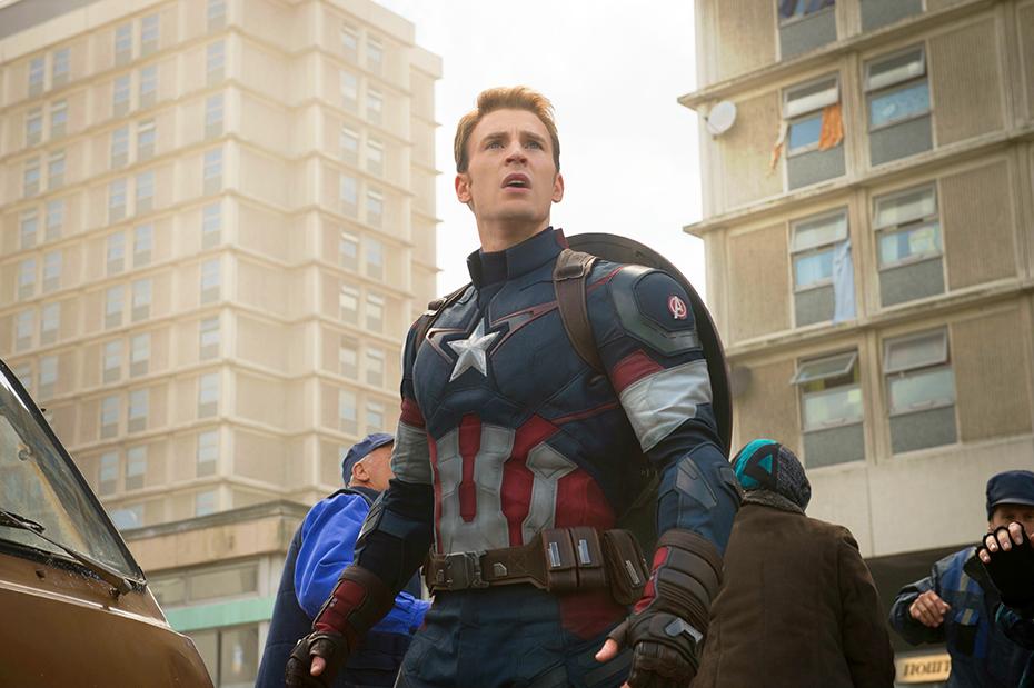 Chris Evans as Steve Rogers, aka Captain America, in Marvel's Avengers: Age of Ultron