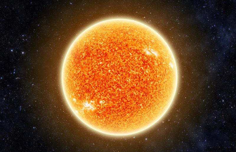 Sun in space