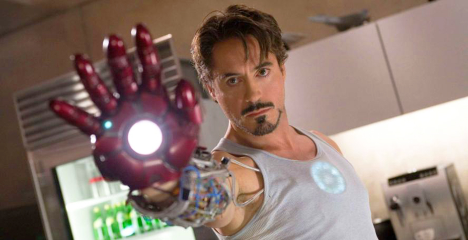 Robert Downey, Jr as Tony Stark, aka Iron Man, in Marvel's Iron Man 3