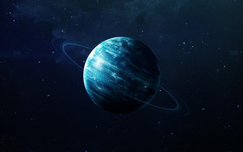 Uranus in space