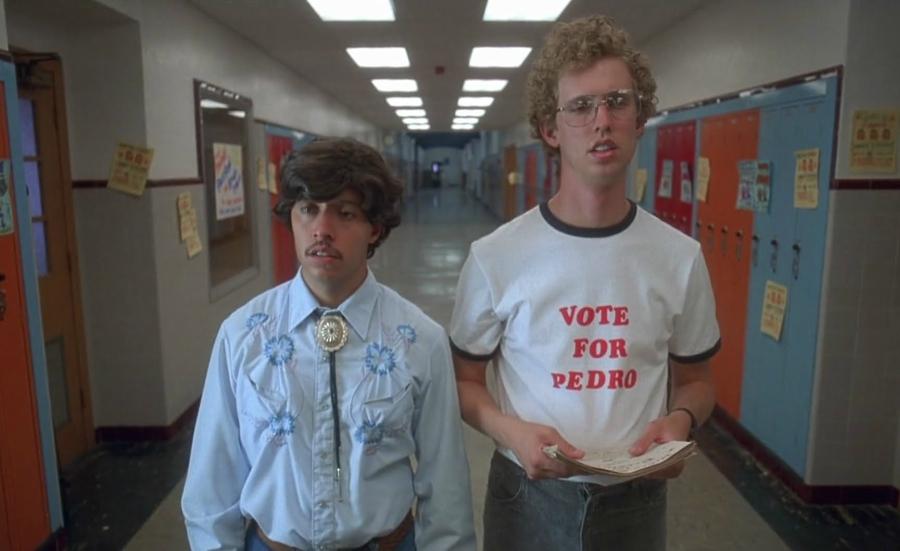 Vote for Pedro still from Napoleon Dynamite