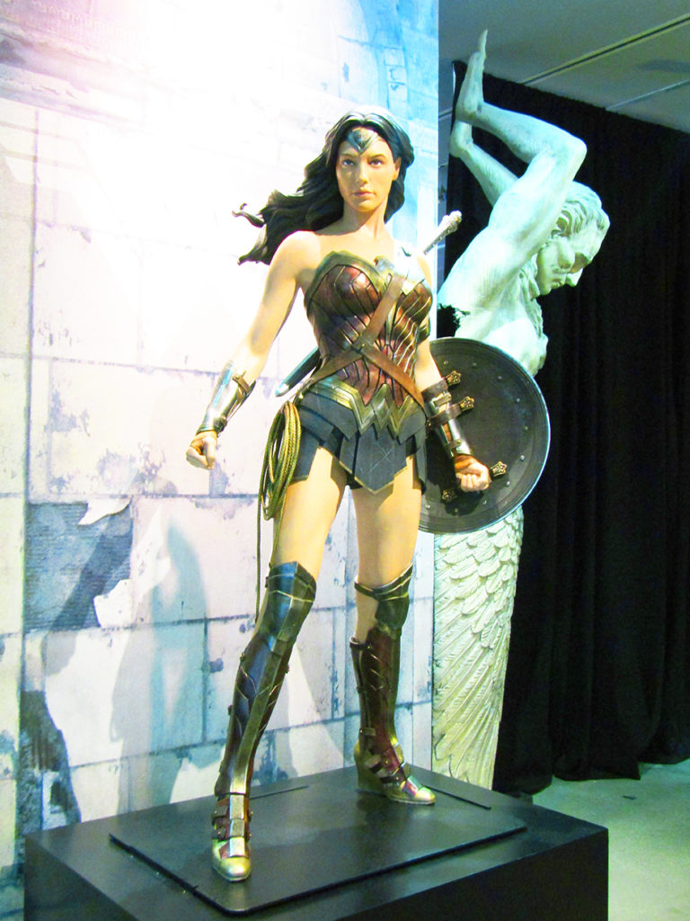 Wonder Woman statue with Batman v. Superman costume