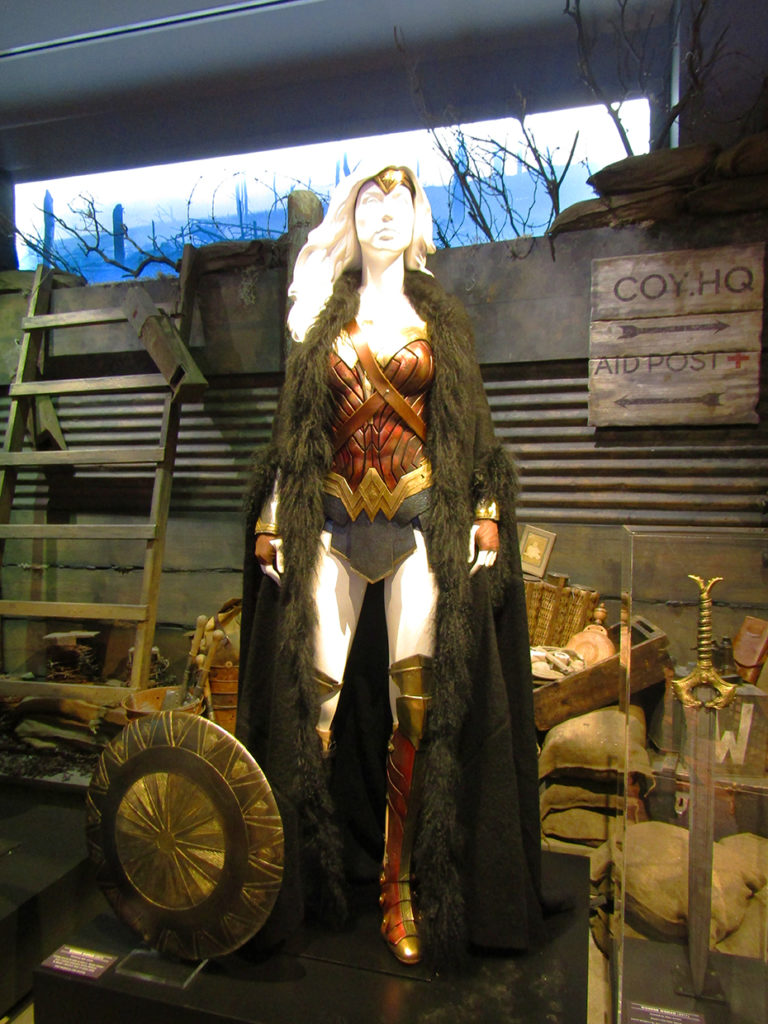 Wonder Woman trenches outfit with fur coat and armor