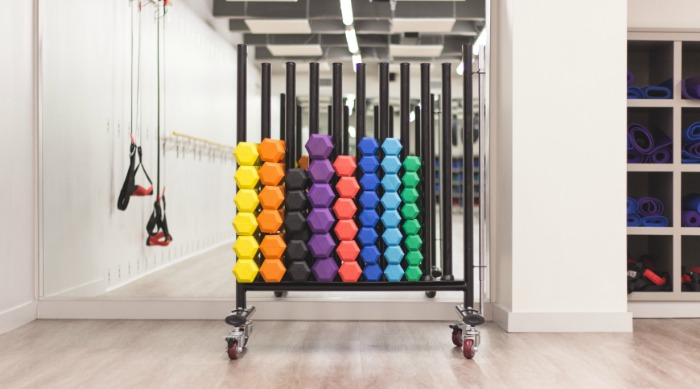 gym with workout equipment