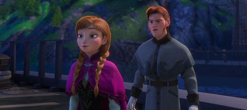 Hans looking at Anna in disgust in Disney's Frozen