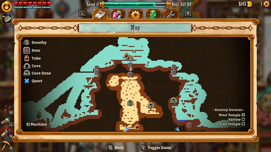 SteamWorld Dig 2: Map