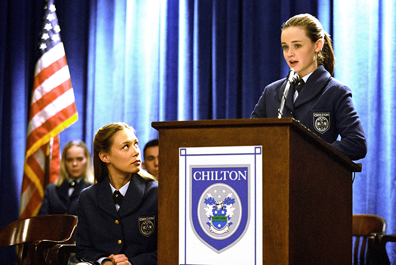 Rory giving a speech at Chilton Prep in Gilmore Girls