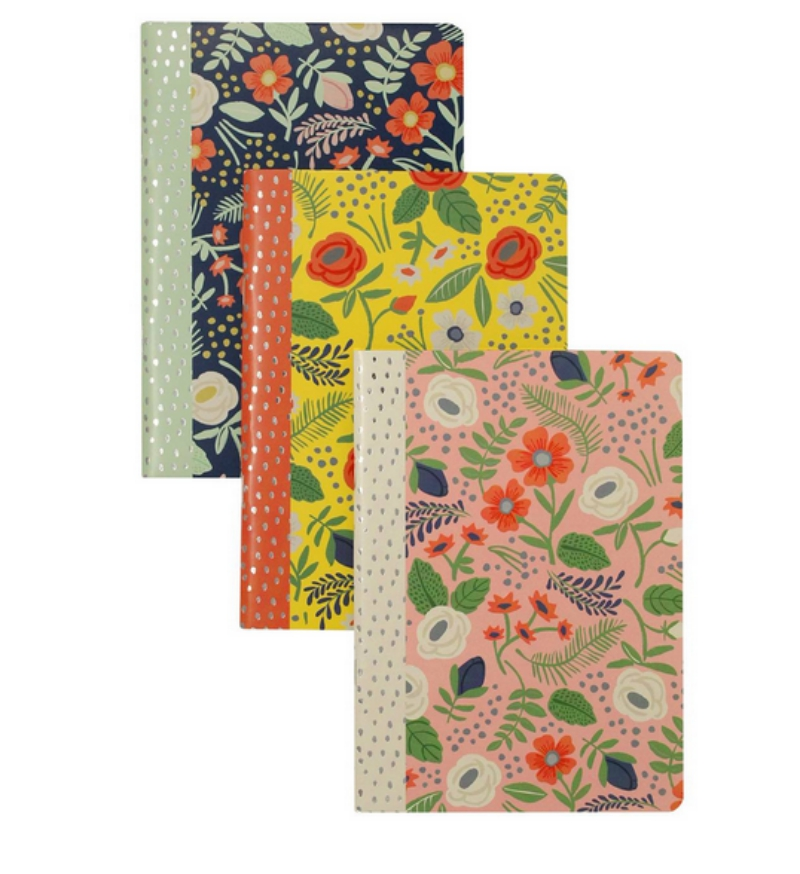 floral notebooks