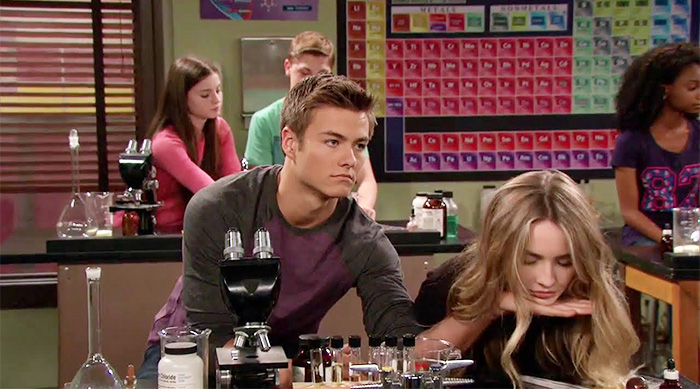 Girl Meets World: Lucas picking up Maya, who's falling asleep in class