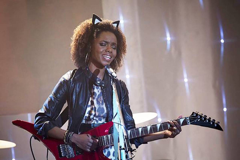 Josie McCoy playing guitar in The CW's Riverdale