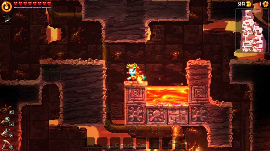 SteamWorld Dig 2: Lava temple