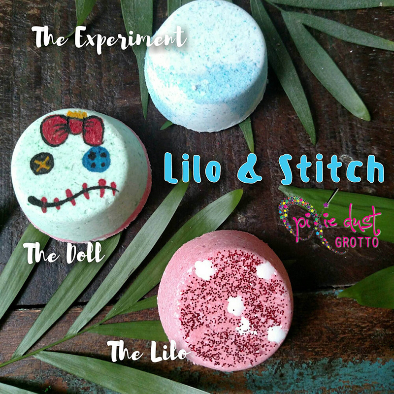 Lilo and Stitch-inspired bath bombs from Etsy