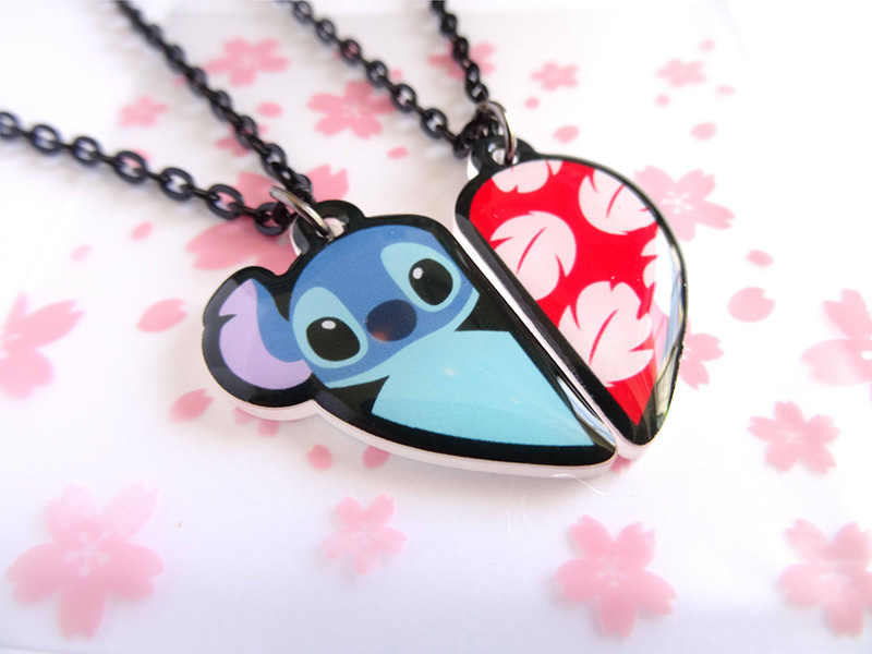 Lilo and Stitch-inspired BFF necklace