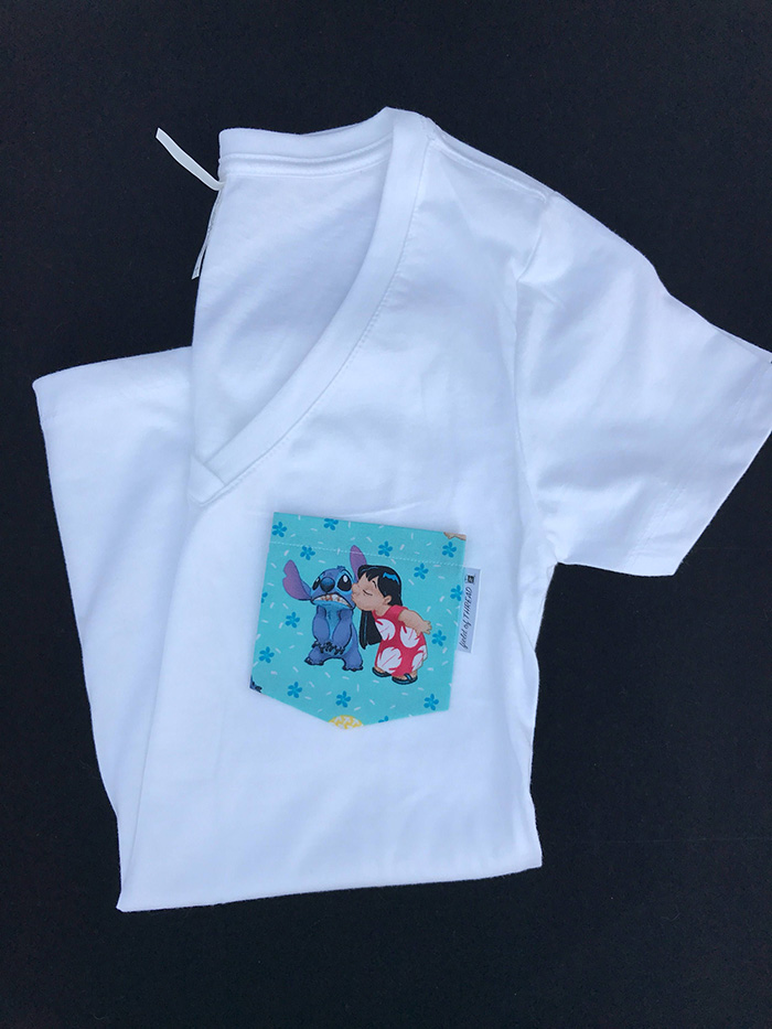 Lilo and Stitch-inspired pocket tee from Etsy