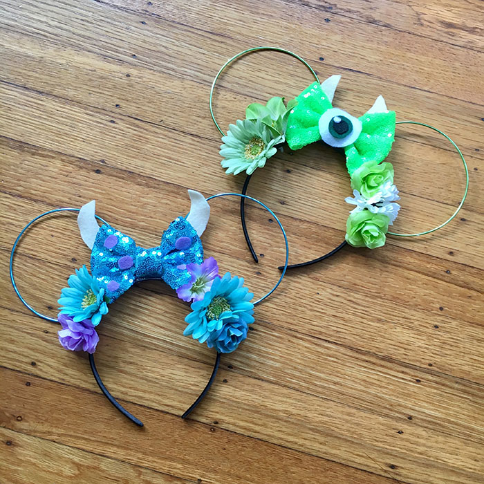 Mike and Sulley Minnie Mouse ears from Etsy
