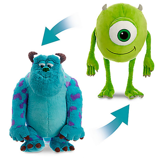 Mike and Sulley reversible plush from the Disney Store