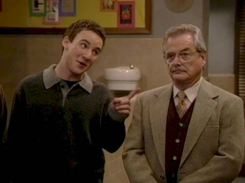 Cory talking to Mr. Feeny in Boy Meets World
