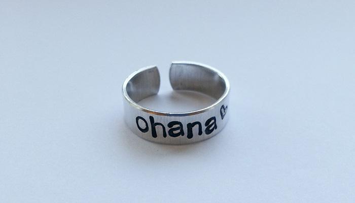 Ohana ring from Etsy