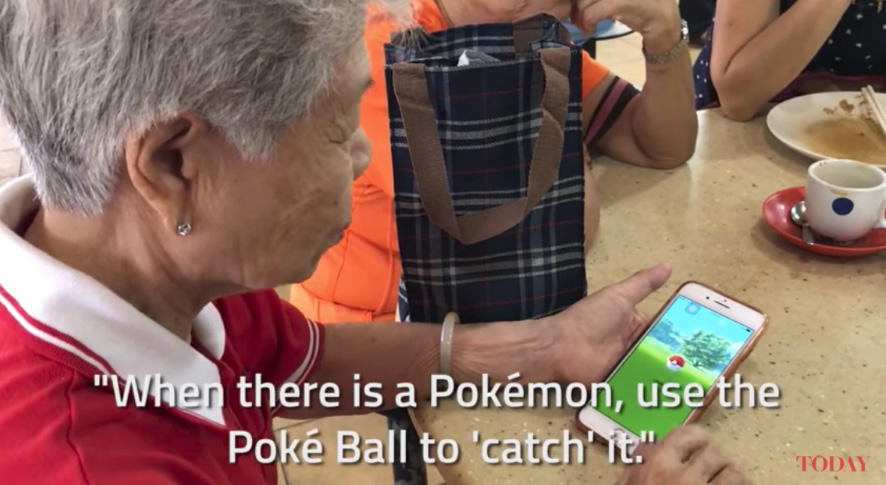 Pokémon Go playing great-grandmother from Singapore explains the game
