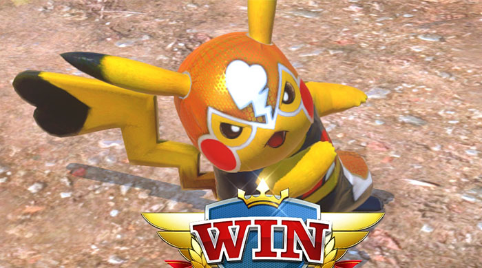 Pokkén Tournament DX: Pikachu Libre Win