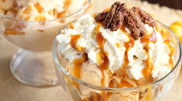 Pumpkin pie sundae