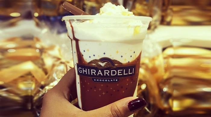 Disney's California Adventure Ghirardelli pumpkin spice caramel shake