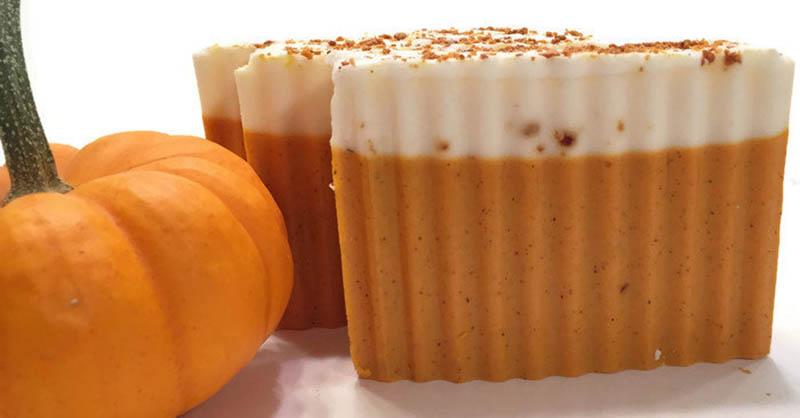 Pumpkin spice latte-scented soap