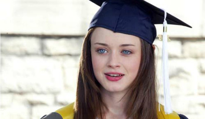 Rory at her high school graduation in Gilmore Girls