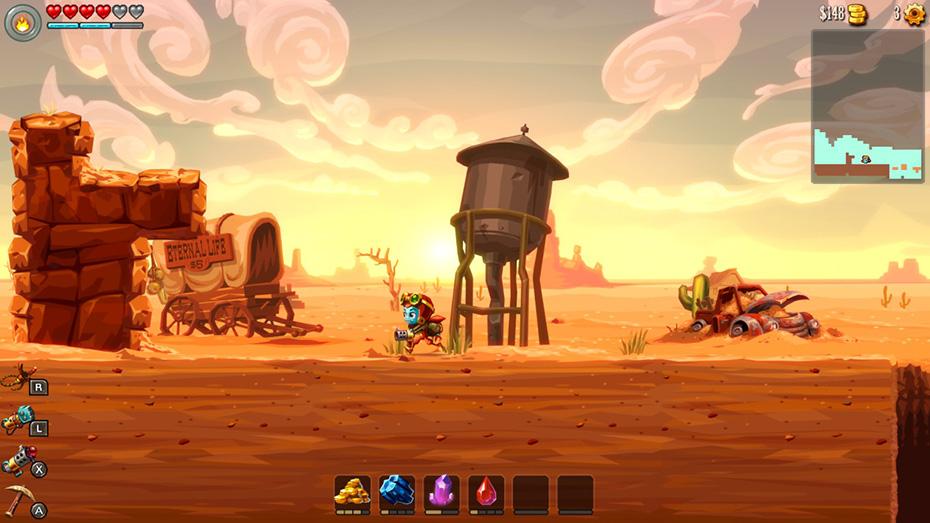 SteamWorld Dig 2: Steampunk desert