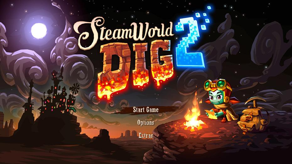 SteamWorld Dig 2: SteamWorld Dig title screen