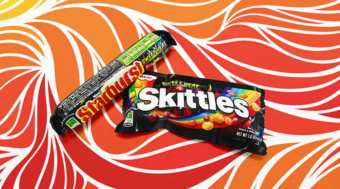 Sweet Heat Starburst and Skittles