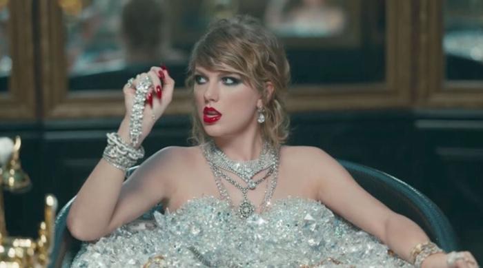 Taylor Swift in a Bathtub of Diamonds