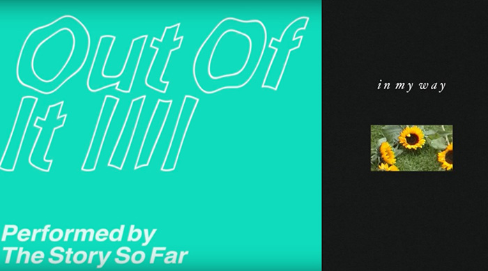 """Single artwork for The Story So Far's """"Out of It"""" and MUNA's """"In My Way"""""""
