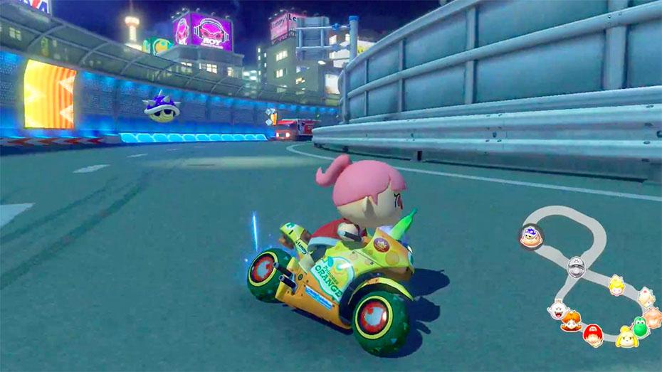 Mario Kart 8: Villager Evading Blue Shell