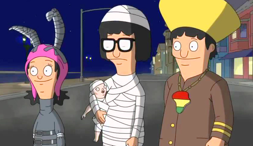 bobs burgers louise tina and genes halloween costumes