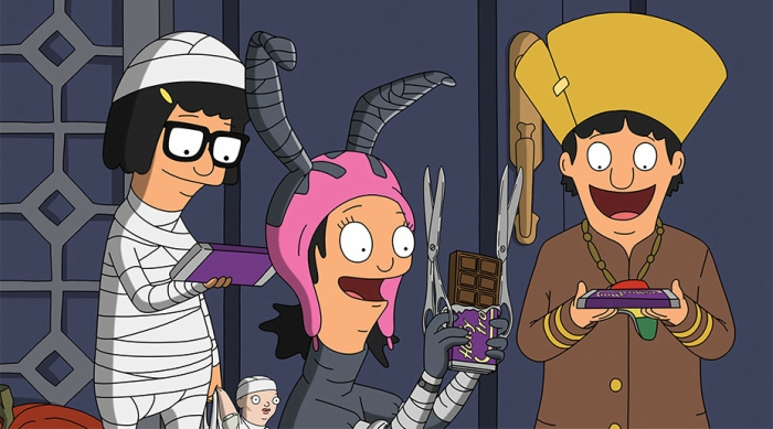 Belcher kids on Halloween