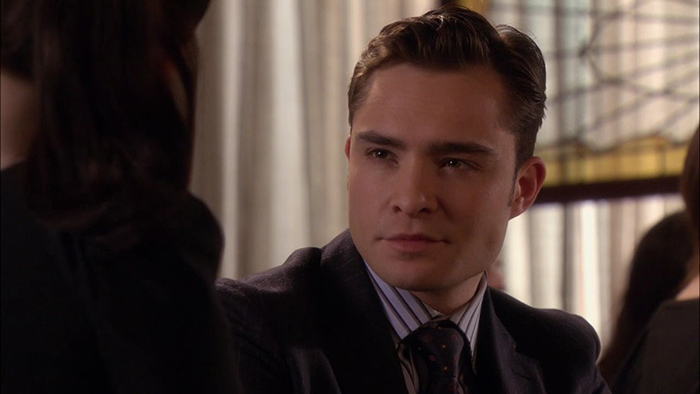 Ed Westwick as Chuck Bass in The CW's Gossip Girl