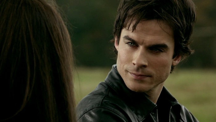Damon Salvatore talking to Elena on The Vampire Diaries