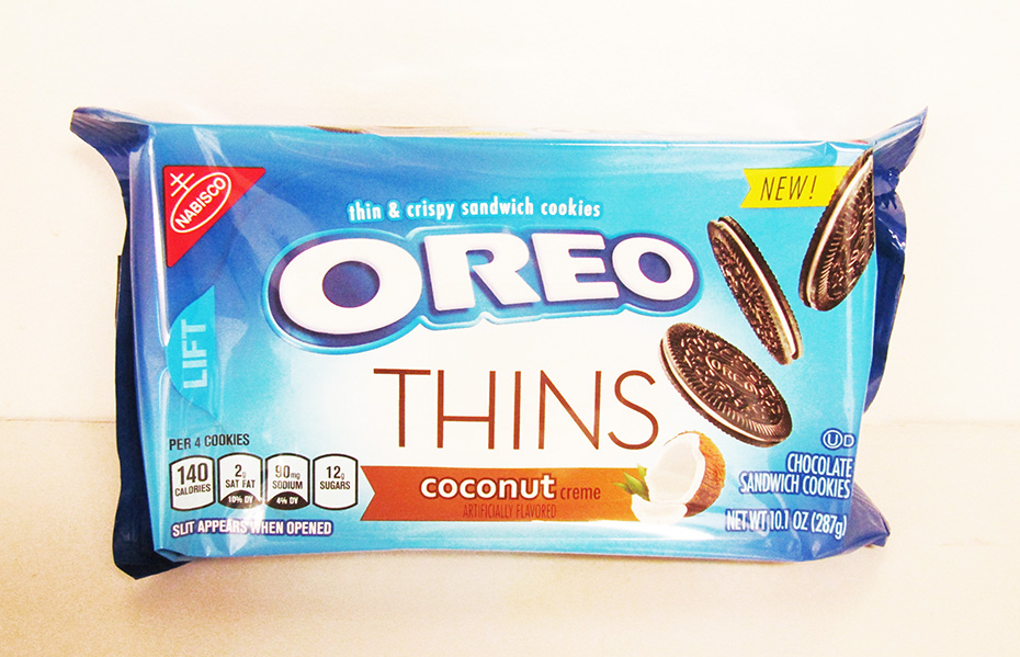 Coconut Oreo Thins packaging