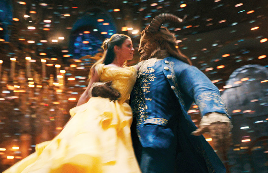 Belle and the Beast dancing in Disney's Beauty and the Beast 2017